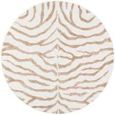 plush zebra grey 6 ft x 6 ft round area rug