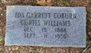 GARRETT CURTIS, COBURN, WILLIA, IDA - Saline County, Arkansas | IDA GARRETT  CURTIS, COBURN, WILLIA - Arkansas Gravestone