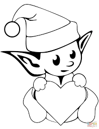 Christmas Elves Coloring Pages Free Coloring Pages