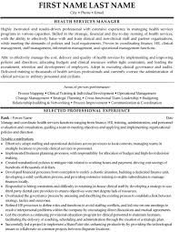 health services manager resume sample template service manager resume examples