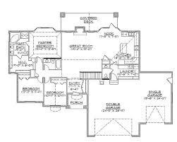 rambler house plans with walkout bat architectural designs