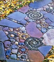 DIY Swirl Pebble Mosaic Garden PathMosaic Garden Path