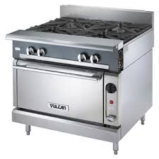 vulcan commercial stove. Simple Commercial Vulcan V4B36 4 Burners 36 Heavy Duty Gas Range  Modular Frame With Commercial Stove