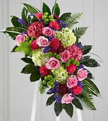 Freeman's assured me they would deliver it to the funeral home at exactly the right time. 89 Funeral Standing Sprays And Wreaths Ideas Funeral Sympathy Flowers Funeral Flowers