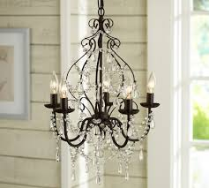 pottery barn chandelier throughout paige crystal inspirations 3