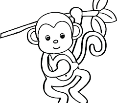 Printable Monkey Coloring Pages Monkey Coloring Pages To Print