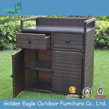 china rattan outdoor storage box