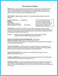 Objective Teacher Resume Cool Grabbing Your Chance With An Excellent Assistant Teacher Resume 19