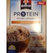 photo of quaker protein instant oatmeal banana nut cereal