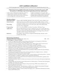 Sample Information Security Resume Sample Security Resumes radioincogibletk 58