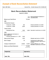 Bank Reconciliation Example Bank Reconciliation Example 100 Free Word PDF Documents Download 2