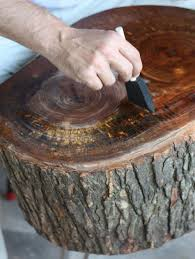 diy stump table wood stumps