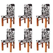 Buy catmallout <b>6 pcs</b> Stretch Dining <b>Chair Covers</b> Removable ...