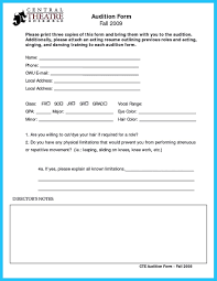 template free audition resume format template charming sample audition resumeaudition resume format full size audition resume format