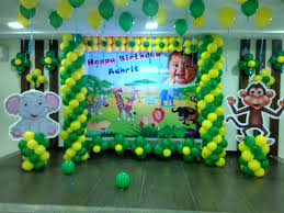 Jungle Theme Decorations Jungle Theme Birthday Party Balloon Decoration Bangalore