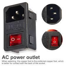 IEC 320 C14 Giriş Güç Soketi Sigorta Anahtarı Güç soketi güç rocker  anahtarı konektör fişi – online alışveriş sitesi Joom'da ucuza alışveriş  yapın