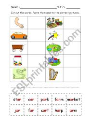 Handwriting worksheet maker make custom handwriting & phonics worksheets type student name, small sentence or paragraph and watch a beautiful dot trace or hollow letter. Phonics Ar Cut And Paste Worksheet Esl Worksheet By F Syazzy