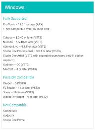 Pro Tools 10 Compatibility Chart Auto Tune Efx Daw Compatibility Customer Feedback For