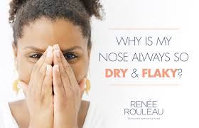 how to get rid of dry skin on nose that is flaking and ling renée rouleau