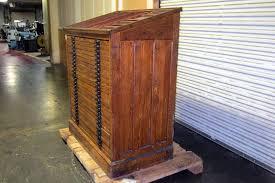 25 drawer hamilton wood type cabinet