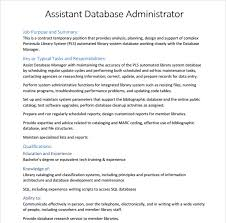 database-administrator-resume-template-free