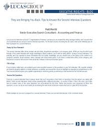 Questions For Second Interview Prepare For Second Interview Under Fontanacountryinn Com