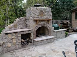 various outdoor fireplace with pizza oven in architecture