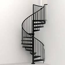 civik 55 in black spiral staircase kit