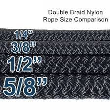 Rope Size Chart Double Braid Nylon Rope