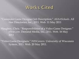 Video Game Designer Responsibilities Ppt Video Game Designing Powerpoint Presentation Free