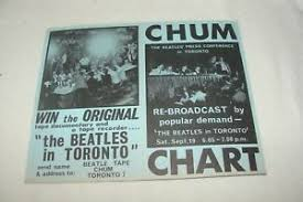 Details About 1964 Chum Chart Beatlemania Beatles Fan Club Vintage Toronto Radio Music