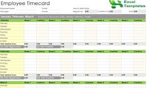 Excel Employee Time Sheet Employee Timesheet Spreadsheet Form Excel Templates