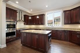 Wood In Kitchen Floors Kitchen Colors With Dark Wood Cabinets Outofhome