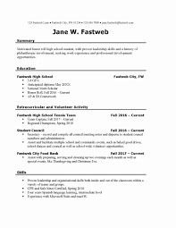 Resume Template For First Job Fresh 11 First Time Job Resume