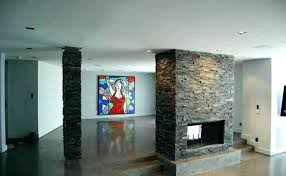 stacked stone around fireplace outdoor pictures