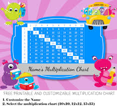 Free Custom Multiplication Chart Printable Customize Then