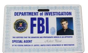Etsy Prop Dean Badge Supernatural Id Fbi Winchester
