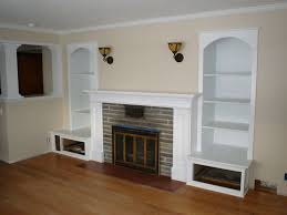 Built In Wall Shelves Furniture Open Plans Built In Wall White Cabinets Shelves Living