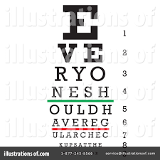 Eye Chart Clipart 93730 Illustration By Arena Creative