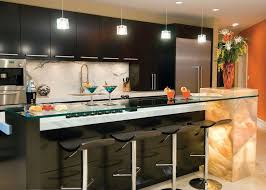 kitchen bar design innovative wonderful black gloss ideas using chrome legs stools also glass countertop over