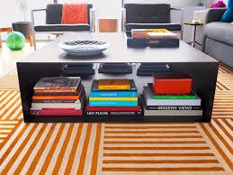 coffee table with storage shelf