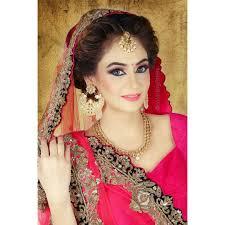 pink eye makeup with bold eye liner a subtle indian bridal makeup look
