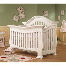 Furniture. Inspiring Chic Baby Furniture Feature White Vintage Style Baby  Crib And Three Layers Mattress