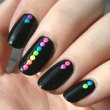 120 Neon Rainbow Nail Art 2mm Round Studs 6 Colors by dailycharme ...