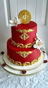 40th Wedding Anniversary Cake Ideas Wedding Anniversary Cake Designs