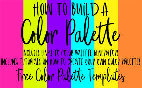 Use the palette to pick a color or the sliders to set the rgb, hsv, cmyk components. Build A Color Palette Free Templates And Tutorials Nap Time Alternative