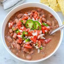 healthy slow cooker pinto beans vegan