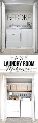 Simple Laundry Room Makeovers Laundry Room Makeover Wood Counters Walmart Tin Totes Pull Out