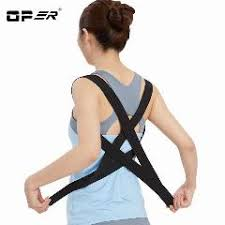 Unisex Adjustable Back Posture Corrector Brace Shoulder Support Belt Correction For Men Women