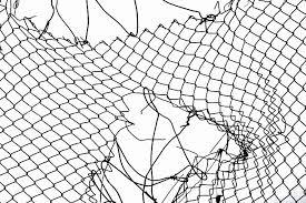 chain link fence vector. Broken Chain Link Fence Vector
